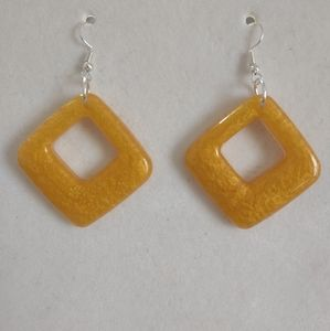 Earrings Gold/Yellow Squares
